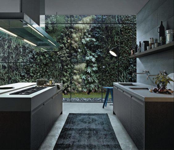Walled Kitchen Garden Design: Vine Covered Wall