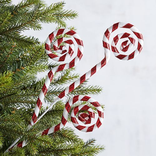Candy Cane Swirl Tree Pick Candy Christmas Tree Whimsical Christmas Modern Christmas Tree