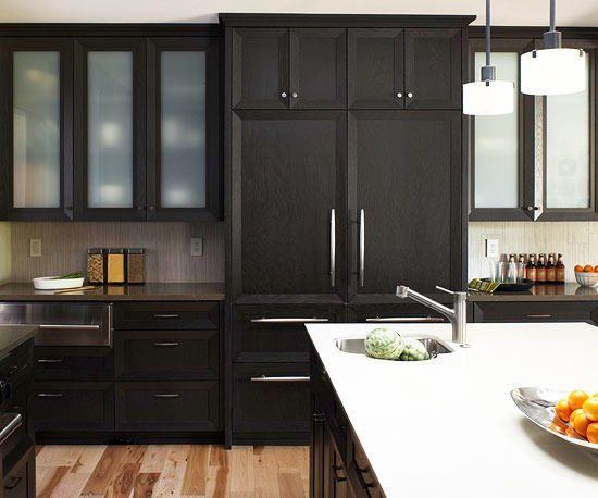 13 Amazing Dark Kitchen Ideas Page 7 Of 13 Worthminer Kitchen Cabinet Design Black Kitchen Cabinets Kitchen Design