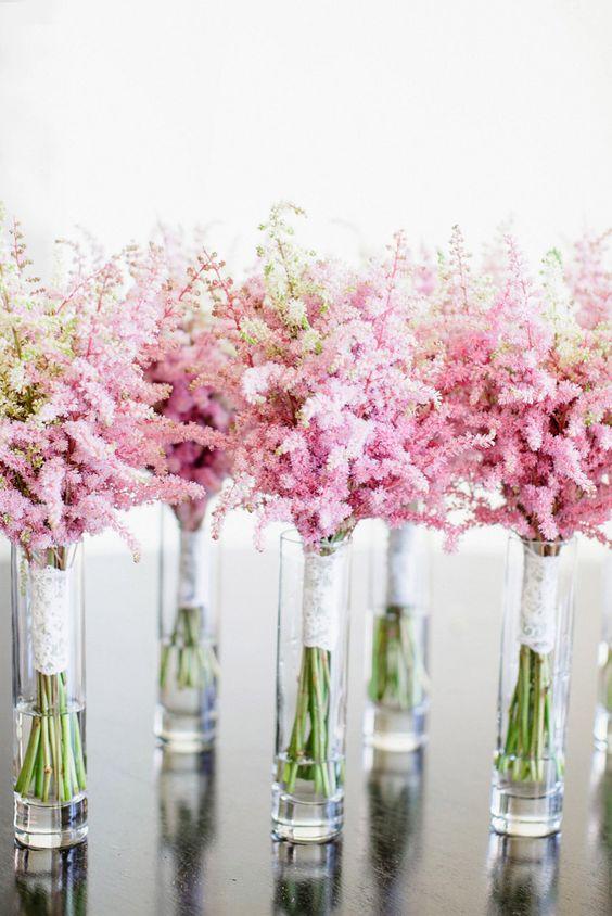 Astilbe as wedding flowers