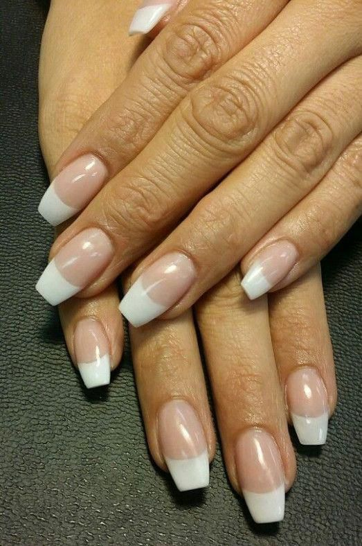 34 Luxury Coffin French Tip Nail Designs French Tip Acrylic Nails French Tip Nail Designs French Acrylic Nails