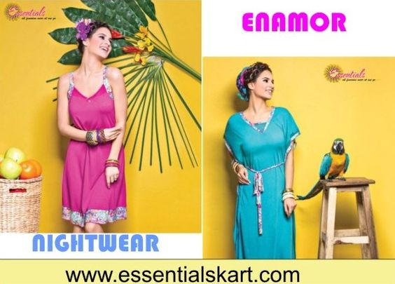 """Get yourself the trendiest #nightwear set from #Enamor. Big Offer -Get Rs.200/- Off on """"All Items"""" Use Coupon code """"NSV"""" to Avail the Offer ! Shop Now : www.essentialskart.com #essentials #offer"""