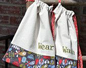 travel laundry bag set; Wash & Wear - great to take on a weekend getaway