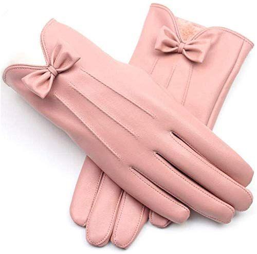 The Perfect Female Mittens Winter Warm Fashion Bowknot Pink Pu Leather Gloves Women Womens Winter Accessories 41 99 Trendycloth Luvas Vintage Vintage Luvas