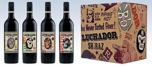 Luchador #wine #bottle #label #design #product
