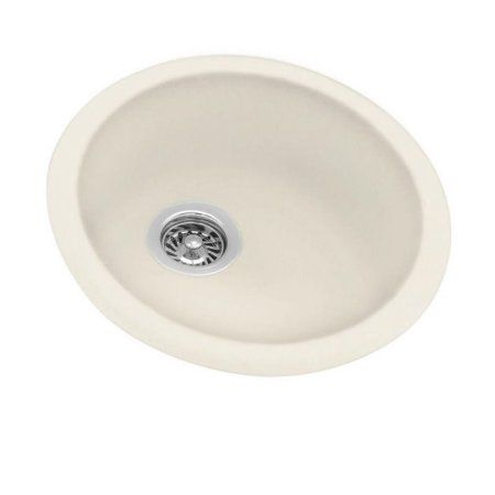 Swan Ksrb-18-010 18.5 inch x 18.5 inch Swanstone Single-Basin Dual Mount Kitchen Sink, Available in Various Colors, Beige