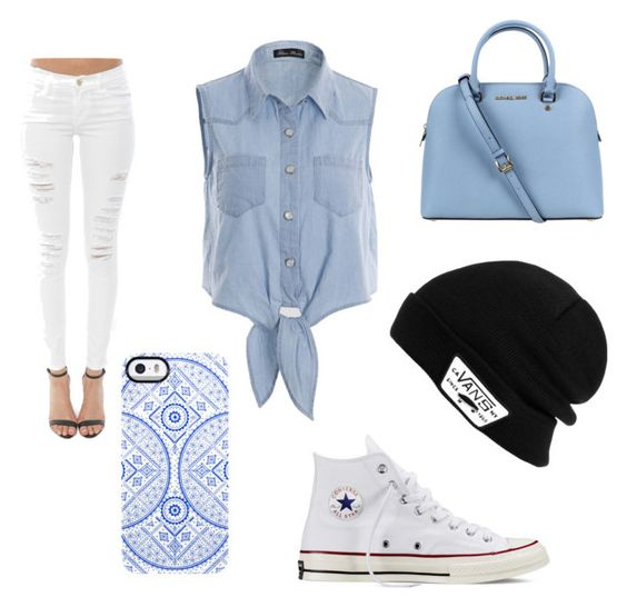"""""""Untitled #1"""" by aprilhaugh ❤ liked on Polyvore featuring Frame Denim, Converse, Michael Kors, Vans and Uncommon"""