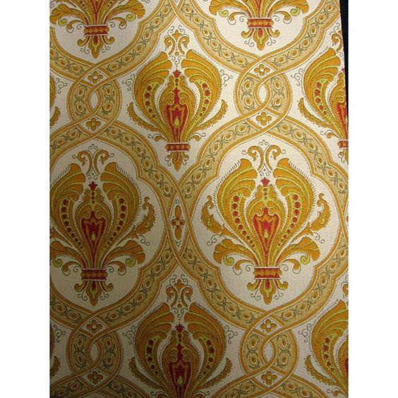Unsere Vintage Tapete wird meterweise verkauft.  Diese authentischen Vintage 1960er bis 1970er Jahren Tapete ist tatsächlichen Jahrgang bestand, keine