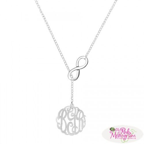 Monogrammed Infinity Dangle Necklace  Apparel & Accessories > Jewelry > Necklaces