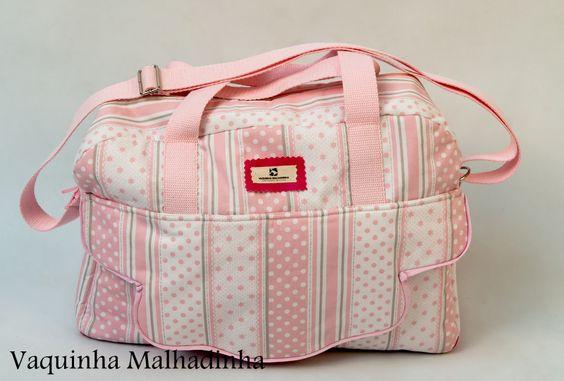 Saco de maternidade com bolso exterior com pala e vários interiores