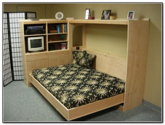 build your own queen sized horizontal murphy bed diy plan fun to build diy plans. Black Bedroom Furniture Sets. Home Design Ideas