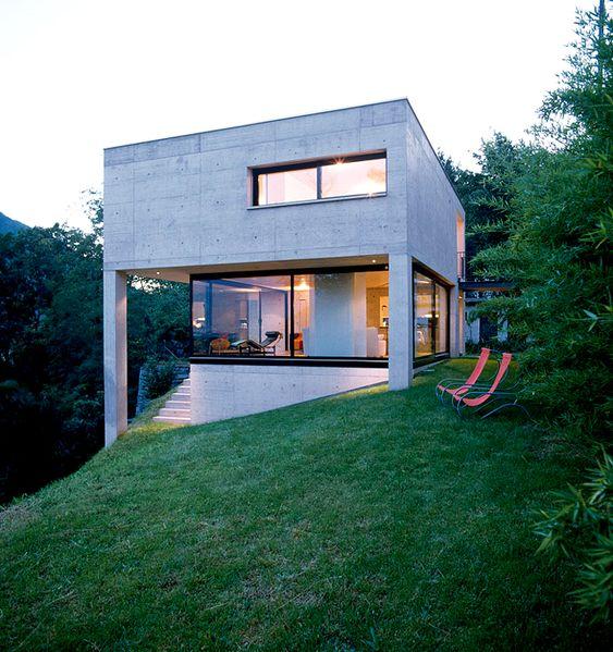 Modernes Haus Kanada Stahlbeton Innenarchitektur