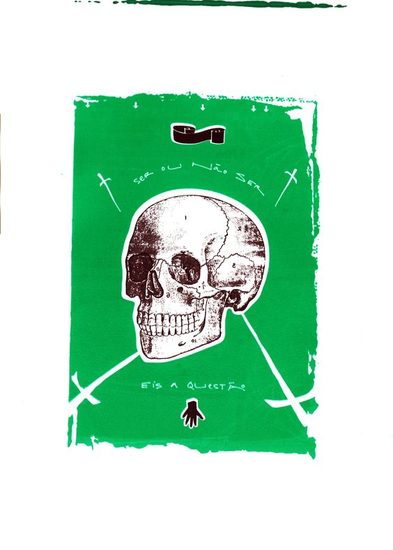 Ser ou não ser, eis a questão . Serigrafia, julho 2014 . Oscar Reinstein