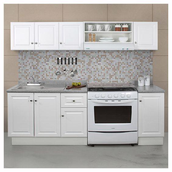 Paquete de cocina 7 piezas color blanco medida m for Llaves para cocina
