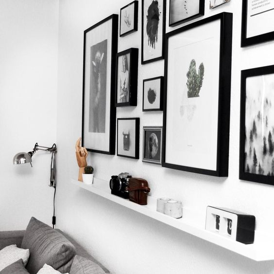 Imagewall  #interior #decor #photography #home #styling #white #black
