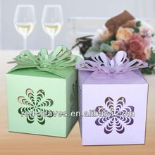 2015 Best Colorful Pearl Light Paper Wedding Favor christmas Decor Gift Box colorful sweet candy folded box cake box wholesale