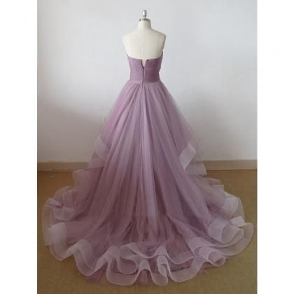sweetheart tulle prom dress..