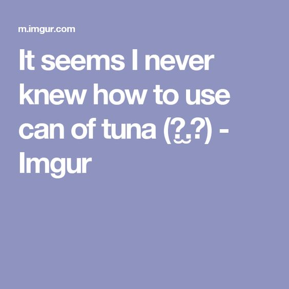 It seems I never knew how to use can of tuna(☉.̫☉) - Imgur