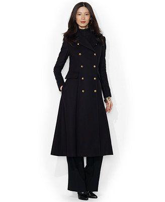 Lauren Ralph Lauren Double-Breasted Wool-Cashmere-Blend Maxi Coat