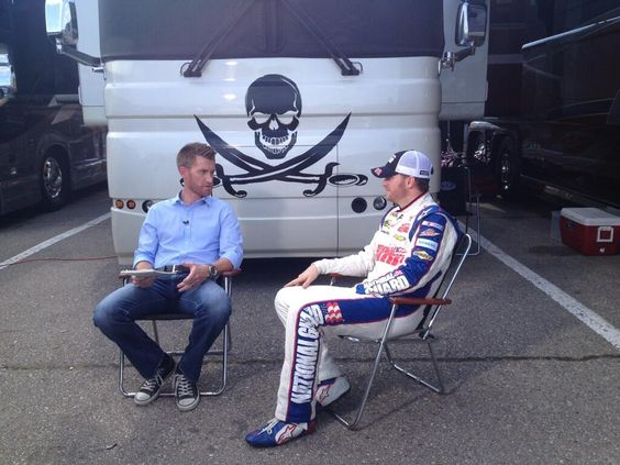Interview with Marty Smith from ESPN in front of Dale's coach in Michigan 6-14-13