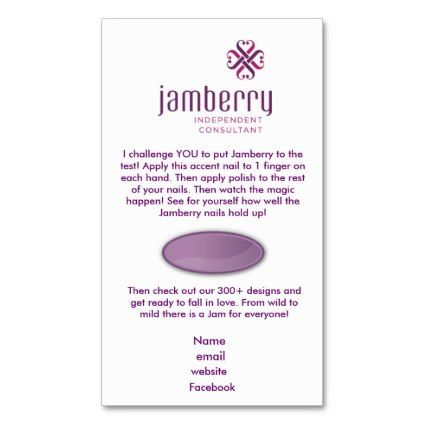 Nails #Fashionista Jamberry sample card business card template - business card sample