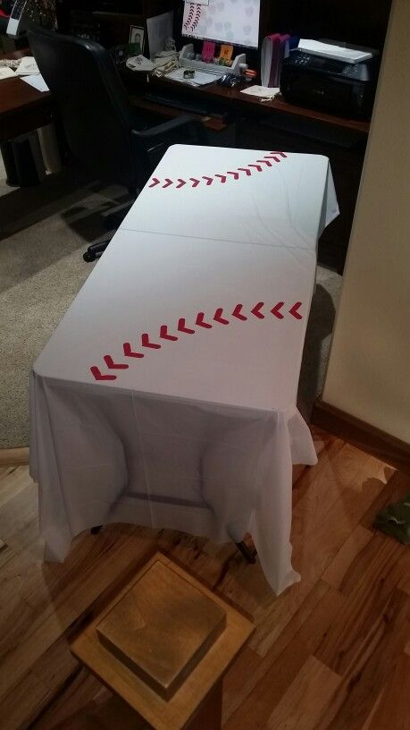 Baseball Party Dollar Store Plastic Tableclothes With