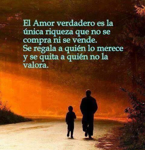 El amor verdadero... se regala a quién lo merece y se quita a quién no lo valora. #frases