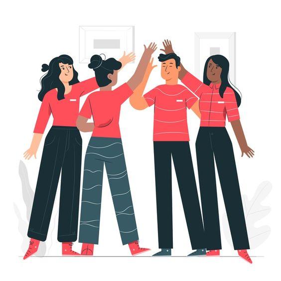 Ilustración del concepto de espíritu de ...   Free Vector #Freepik #freevector #personas #trabajo #equipo #comunicacion