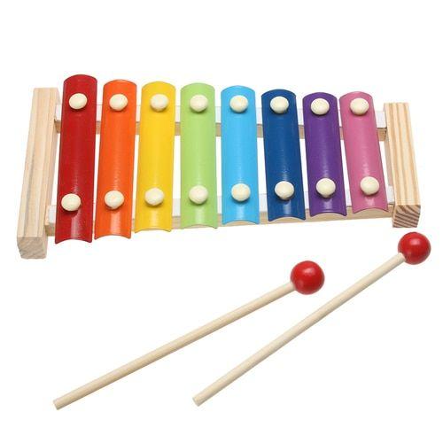 Kid Musical Toys Xylophone Development Wisdom Wooden Instruments ED