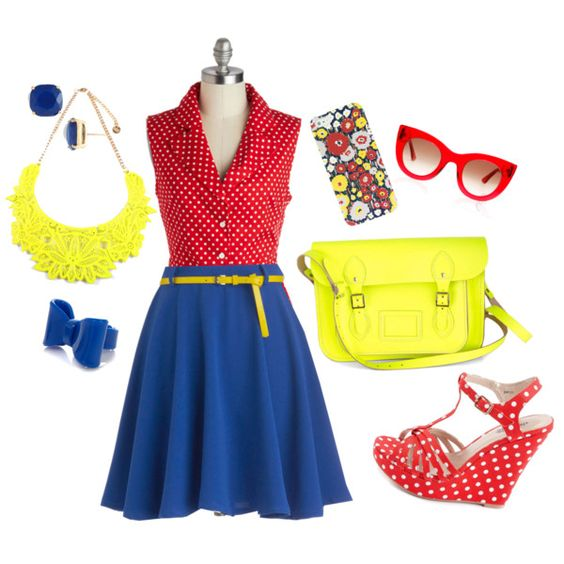 """Primary Polka"" by brittney-guest on Polyvore"
