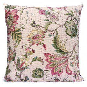 Large Seva Hand Embroidered Kantha Cushion