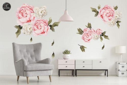 Piwonie Peonie Naklejka Na Sciane Kwiaty Xxl Home Decor Home Decor Decals Decor