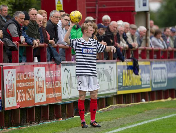 Queen's Park's Ross Millen in action during the Ladbrokes League One game between Brechin City and Queen's Park.