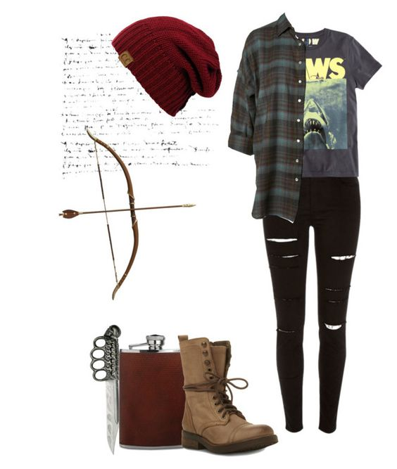 """""""Twd inspired outfit"""" by shadyannon ❤ liked on Polyvore featuring H.I.P., River Island, H&M and Steve Madden"""