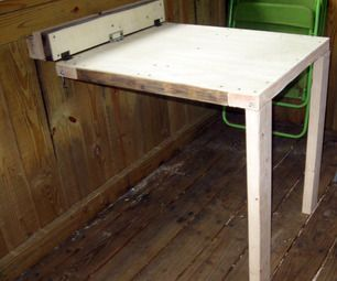 Small space collapsable table diy for rv