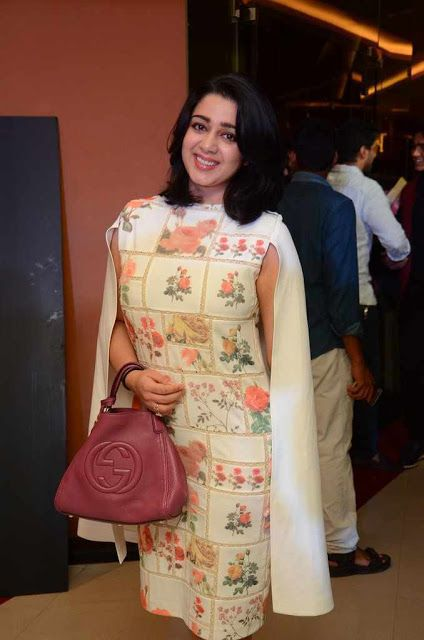 Charmi Kaur Latest Hot Glamourous Spicy PhotoShoot Images At Nirmala Convent Movie Premier Show  actress Charmi Kaur