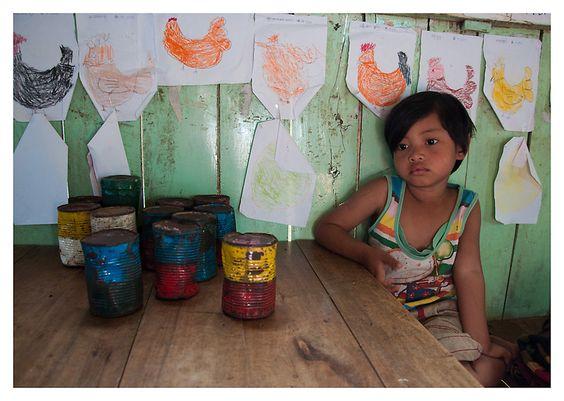 Child at school, Myanmar