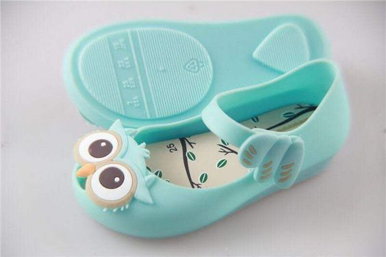 15-18cm summer girls beach sandals Mini Mini style owl jelly fish mouth shoes plastic rubber PVC girl's footwear