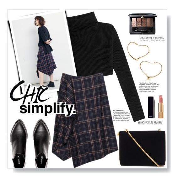 """""""Chic Simplify"""" by yukotange ❤ liked on Polyvore featuring Valentino, Lulu Guinness, Guerlain and Chanel"""