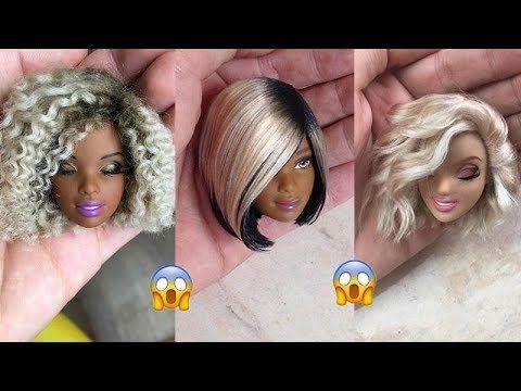 Barbie Doll Hairstyles Amazing Barbie Hair Transformation Creative Fun For Kids Youtube Barbie Hairstyle Barbie Doll Hairstyles Doll Hair