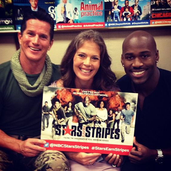 Tom Stroup, Picabo Street and Dolvett Quince from Stars Earn Stripes.     http://instagram.com/p/NeWtF-KrvF/