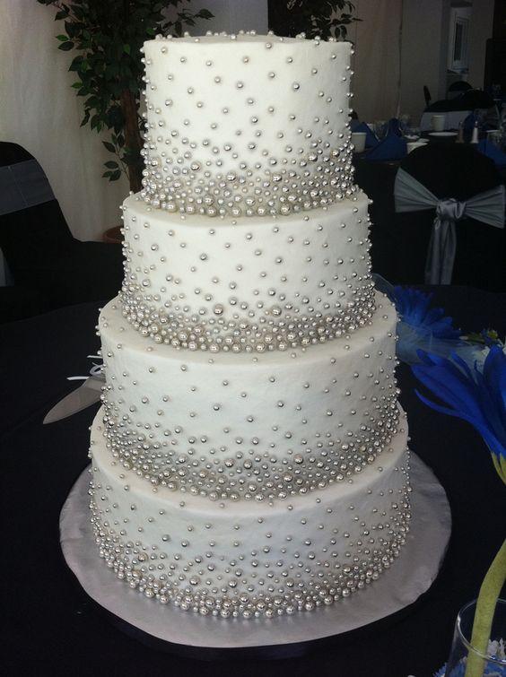 Sugar Crystal Diamond And Pearls Wedding Cake Hily Ever After Pinterest Aniversario De Perla 30 Años Y Pastel Boda
