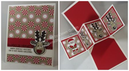 Cookie Cutter Christmas  Dawn Griffithj - video on how to make pop up card.