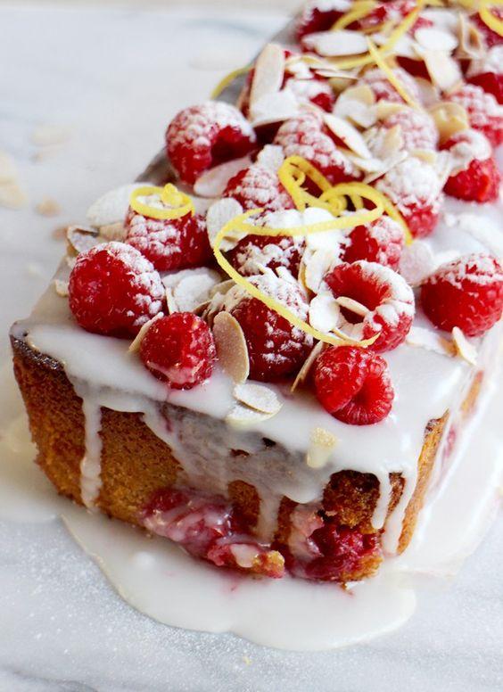 Frambozen-yoghurtcake