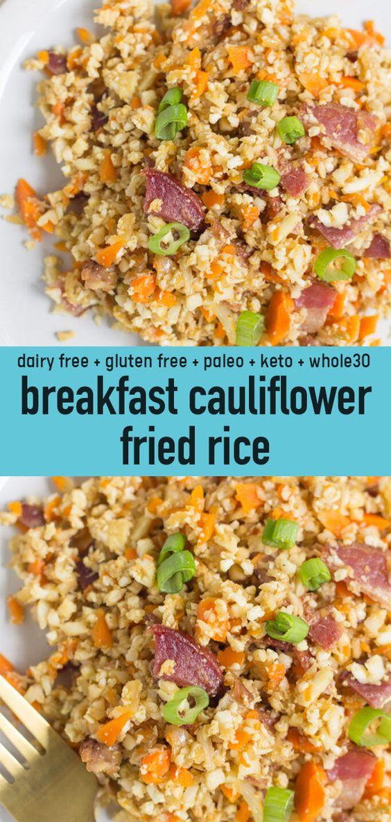 Breakfast Cauliflower Fried Rice
