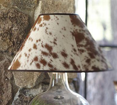 PB Basic Cowhide Lamp Shade #potterybarn