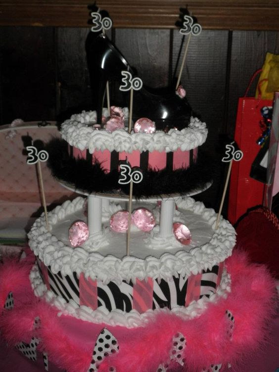 this is the cake i made for my daughters 30th birthday party.