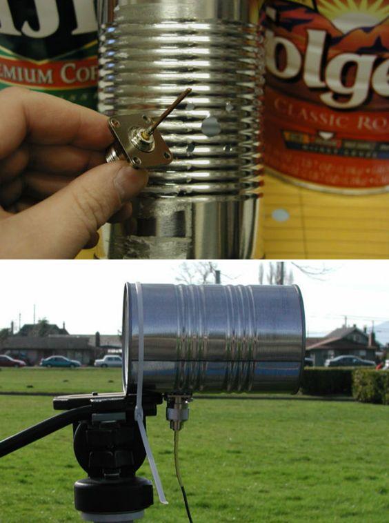 Tin Can Wifi Antenna Crafts Tips And Diy Pinterest