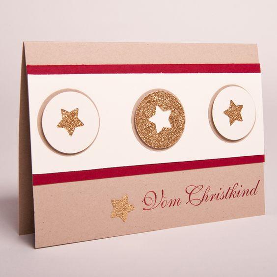 """""""+Vom+Christkind""""+Weihnachtskarte++von+Stempeldorf+auf+DaWanda.com"""