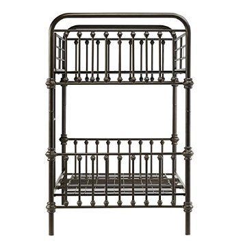 kids bunk bed frame wrought iron cast metal vintage antique rustic country style bedroom furniture furniture decor black antique style bedroom